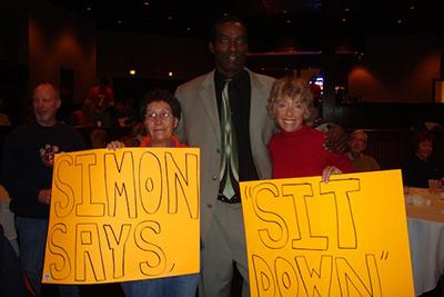 Simon Fletcher with Fans