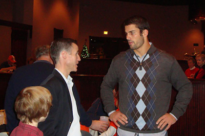 Eric Decker with Fan