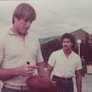 QB Club Memories: Member Gary Fernandez at the 1984 QB Club Event