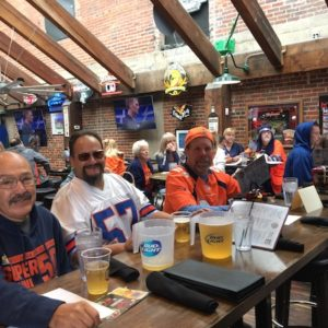 Fun at the Broncos/Bills Watch Party